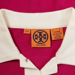 Tory Burch Tops - TORY BURCH – Magenta Polo Shirt Top – Size XS